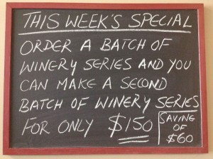 Winery Series Special Offer
