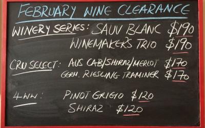February Wine Clearance