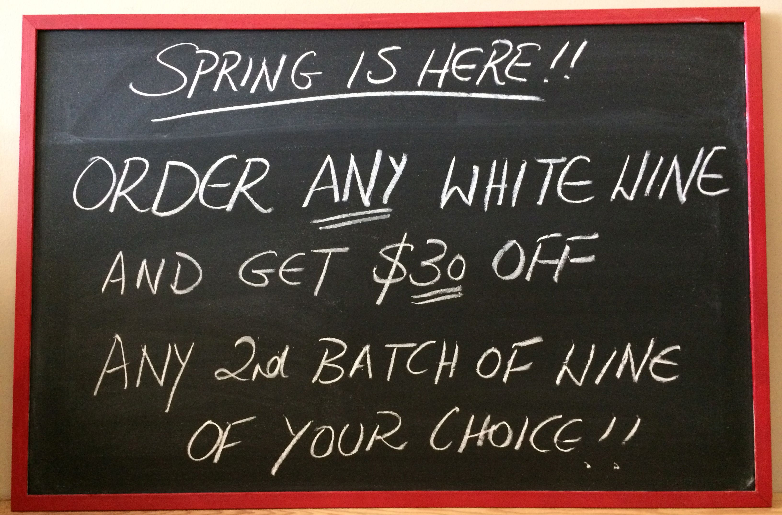 Spring Has Arrived Special Offer Wines Unlimited Oakville